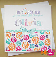 Personalised Birthday Card 'Summer Floral' Any Name/Age 16th/21st/30th Female