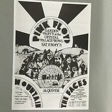 PINK FLOYD THE FACES MOUNTAIN - CONCERT POSTER LONDON SAT 15TH MAY 1971 (A3 SIZE