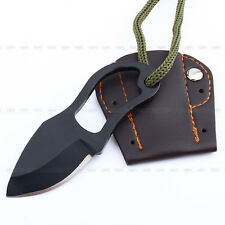 Mini Pocket Finger Paw Self-Defence Survival Camping Fishing Neck Knife + Sheath