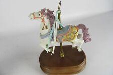 Vintage Albert E. Price Belmar NJ Carousel Spinning Ornate Horse Music Box