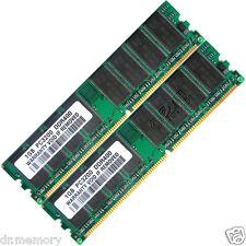 Memoria RAM 2GB (2x1GB) DDR 400 MHz PC3200 Non-ecc PC Sobremesa (DIMM) 184-pin