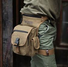 Vintage Canvas Mens Fanny Waist Leg Minitary Hiking Pack Messenger Shoulder Bag