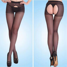 Sexy Women's Fitness Open Crotch Crotchless Sheer Pantyhose Stockings Tights F