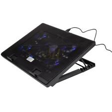 "Adjustable Stand Pad 5 LED Fans USB Cooling Cooler Pad For 12-19"" Laptop"