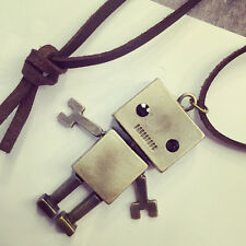 Korea Retro Robot Sweater Chain Length Cartoon Exaggerated Fashion Necklace