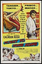 FLIGHT TO HONG KONG -1956- orig 27x41 movie poster - RORY CALHOUN, BARBARA RUSH