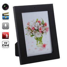 Home Black Picture Frame Spy Security Camera Covert Motion Detection Camcorder