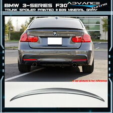 12-16 BMW 3-Series F30 4Dr Trunk Spoiler OEM Painted Match # B39 Mineral Gray