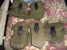Lot of 4 MIXED SMALL ARMS AMMO POUCHES Genuine US Military Issue Pouch