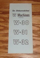 1969 Oldsmobile Dr Oldsmobiles W Machines Sales Brochure W-30 W-31 W-32 69