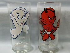 Casper & Hot Stuff ~ Button Bottom Glass ~ No Sponsor