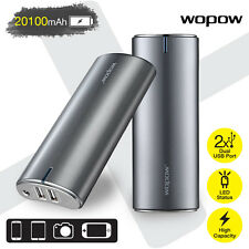 WOPOW 20100mAh External Battery Portable Power Bank Smartphones & Tablets Grey