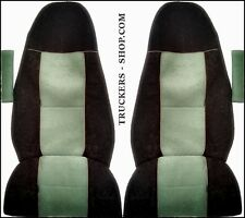 VOLVO FH4 TRUCK SEAT COVERS GREEN/BLACK  [TRUCK PARTS & ACCESSORIES]