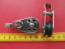25mm Nylon Sheave Marine Stainless Boat Pulley.Removable Pin & Bracket. 6mm rope