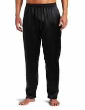 INTIMO MEN'S LUXE SILK BLACK PAJAMA PANTS SIZE M NWT