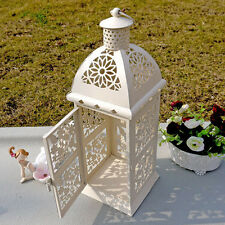 Romantic Wedding Necessary Decor White Candle Holder Iron Candlestick Lantern