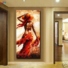 """Modern Impressionism hand-paint art Oil Painting """"western girl"""" canvas NO framed"""