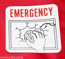 TOYOTA EMERGENCY EXIT DECAL GLASS BREAK COASTER FROM JAN 93  NEW GENUINE