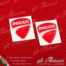2 Adesivi Resinati Sticker 3D Ducati Corse New Red 40 mm
