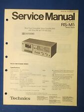 TECHNICS RS-M5 CASSETTE SERVICE MANUAL ORIGINAL FACTORY ISSUE REAL THING