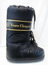 NEW Womens VEUVE CLICQUOT Puffy Waterproof MOON Boots 35-37 BLACK 6.5