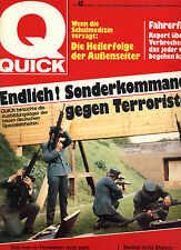 Kult-Illustrierte QUICK, Nr.42 von 1972, Fahrerflucht, Anita Eckberg uvm.