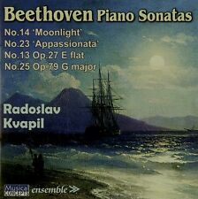 CD BEETHOVEN FOUR PIANO SONATAS KVAPIL MOONLIGHT APPASSIONATA OP. 27/1 OP. 79