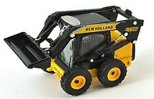 New Holland L175 Wheeled Skid Loader 1/87th Scale Yellow/Black - Tracked 48 Post