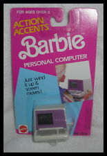 ACCESSORY NRFP MATTEL BARBIE DOLL ACTION ACCENTS WIND UP COMPUTER FOR  DIORAMA