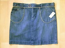 NWT Old Navy Trouser-Style Straight Jean Cotton Denim Skirt Cord Trim Pockets 14