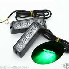2x Green Car Waterproof LED Emergency Beacon Light Flash Hazard Strobe Warning