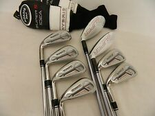 NEW LH ADAMS IDEA SUPER S IRON SET 3H-PW STEEL & GRAPHITE REGULAR IRONS 3-PW