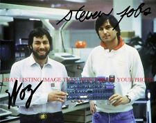 STEVEN JOBS AND STEVE WOZNIAK AUTOGRAPHED 8x10 RP PHOTO APPLE COMPUTER