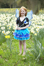 Girls Kids Turquoise Butterfly Fairy Wings Wand & Tutu Fancy Dress Party Costume