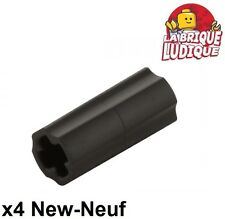 Lego technic - 4x Axe Axle Connector noir/black 6538c NEUF