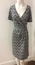 TALBOTS Designer Dress Size XL Extra Large 14 16 Sundress Stretch White Black