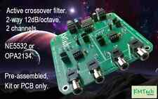 2 canales 2 vías filtro crossover activo 12dB/octava KMTech NE5532 pre-ensamblado