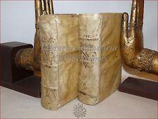 FIGURATO '500: Musso, PREDICHE 3 parti in 2 volumi 1581-1585 Pergamena Incisioni
