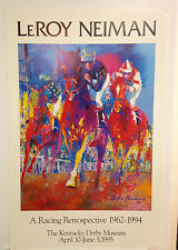LEROY NEIMAN - Kentucky Derby ORIGINAL 1995 POSTER Plate Signed Art Print