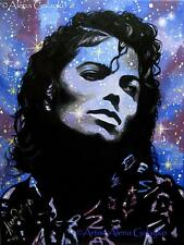 MICHAEL JACKSON Original OIL painting on canvas fine art portrait Gemälde arte