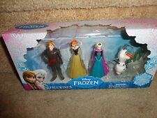 DISNEY FROZEN ANNA, ELSA, KRISTOFF, AND OLAF FIGURINES CAKE TOPPERS