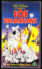 DISNEY CLASSICS - 101 DALMATIANS - VHS PAL (UK) VIDEO