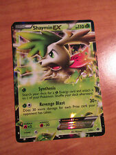 SHAYMIN EX Pokemon card NEXT DESTINIES Set 5/99 Black and/&White BW Ultra Rare