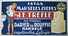 1930s INDEPENDENT LATVIA LATVIAN LE TREFLE FRENCH SOAP ADVERTISING POSTER RIGA