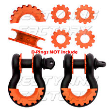 "NEW Orange Isolator Washers 1 Pair Set Silencer Clevis for 3/4"" D-ring Shackles"