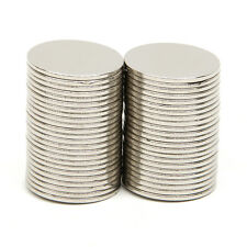 50 tlg Runder Starke Neodym Magnete NdFeB N52 Extrem Stark Scheibenmagne15x1mm