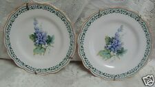 "2 Nikko Dessert Salad Bread Plates Purple Grapes Scalloped Edge 6-1/2"" japan"