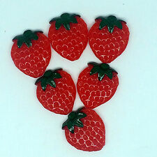 10pcs Red Strawberry embellishment Resin Flatback ScrapbookIng for phone/craft