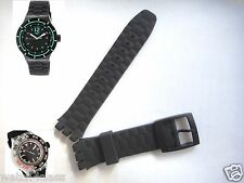 21mm Black Rubber Silicon strap band bracelet suuk400 STORMY (fits) Swatch
