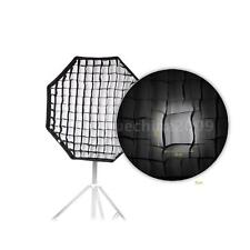 80cm / 31.5in Octagon Umbrella Softbox Brolly Reflector with Honeycomb Grid NEW